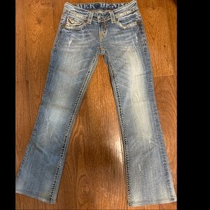 MEK TANGIER BOOTCUT JEANS WITH CONTRAST STITCHING